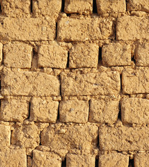 Old adobe wall closeup