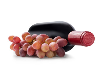 Grapes and wine Bottle