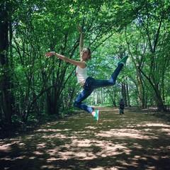 прыжок балерины
