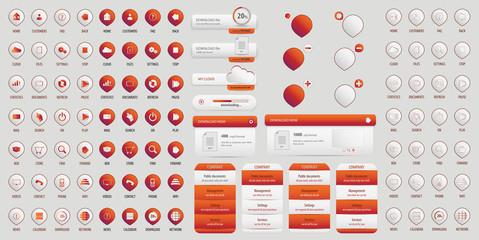 Orange button big pack