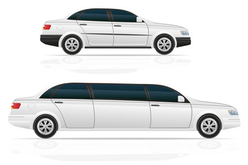 car sedan and limousine vector illustration