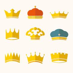 vintage antique crowns