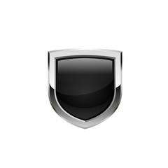 Black shield. Vector.