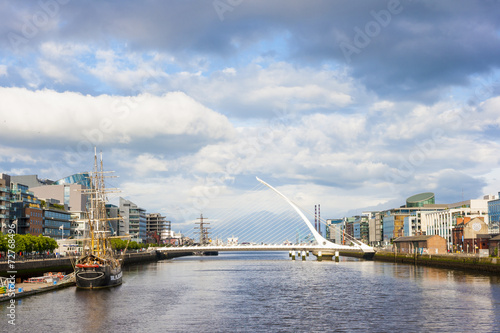 Poster Liffey River in Dublin