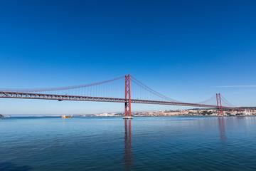 25 de Abril Cable-stayed Bridge over Tagus River