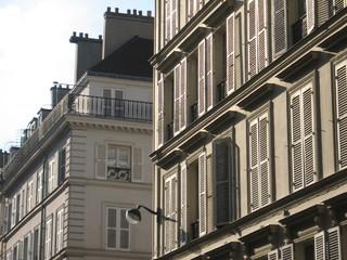 Immeubles parisiens en fin de journée - Paris 8