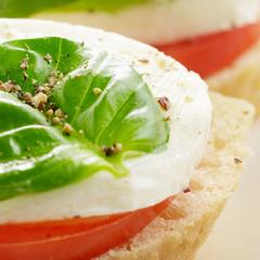 Caprese sandwiches with mozzarella