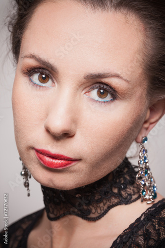 canvas print picture Portrait of young woman in evening makeup