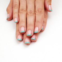 French manicured nails - isolated