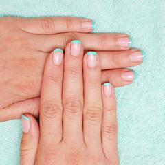 Beautiful manicured woman's nails