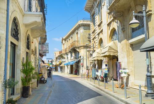 Foto op Canvas Mediterraans Europa The shopping street
