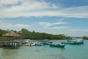 Puerto Villamil in Isabela Island. Galapagos Islands