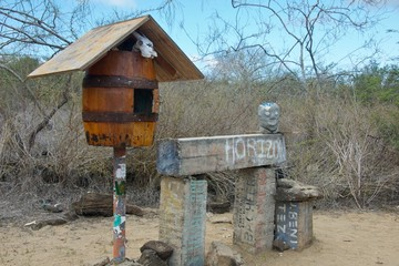 Post Barrel in Floreana Island, Galapagos Islands