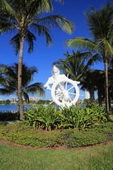 Seaman statue in Phil Foster Park, Riviera Beach, Florida