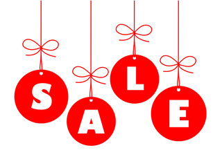 """SALE"" Ad (christmas january sales tag baubles)"
