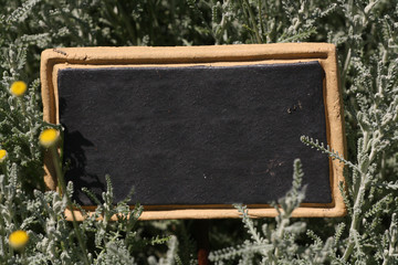 Blackboard frame and label