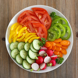 Raw cuts of vegetables