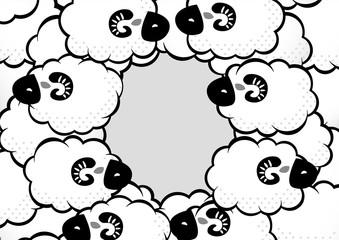 モノクロ_ポスター_羊