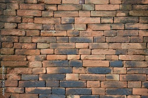 Poster Brick wall Background in Kanchanaburi Thailand.