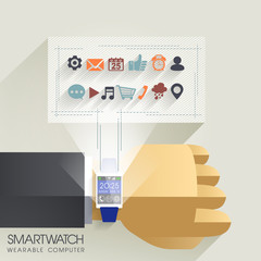 businessman's hand with smart watch