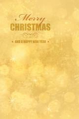 merry christmas auf goldenem hintergrund