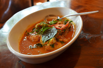 Catfish in Red Curry and Coconut Milk Thai name Chu Chi Pla Kang