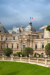 Luxembourg Palace facade in Luxembourg Gardens, Paris