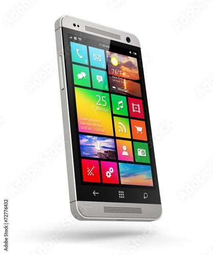 canvas print picture Modern touchscreen smartphone