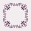 vector vintage Baroque frame border pattern