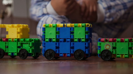 play with toy train and fun