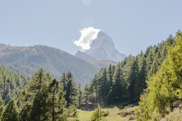 Zermatt, Dorf, Wanderferien, Wallis, Alpen, Sommer, Schweiz
