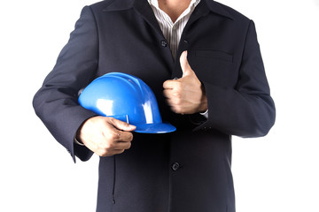 architect man holding safety hamlet