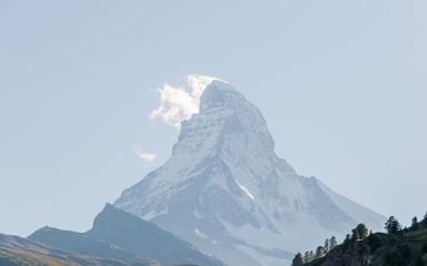Zermatt, Walliser Dorf, Bergkamm, Berggipfel, Alpen, Schweiz