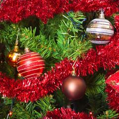 christmas decoration on tree