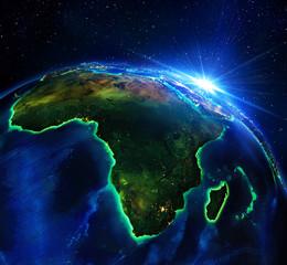 land area in Africa, the night © Romolo Tavani