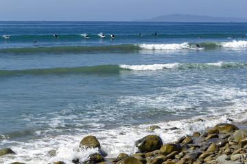 Lucky Surfer Waves, Ventura, Southen California