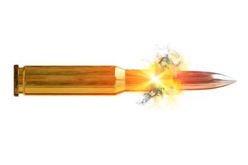 Bullet - Kugel beim Abschuss