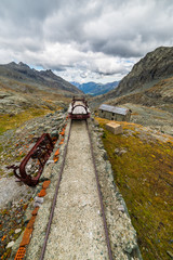 Obsolete railroad in the mountain