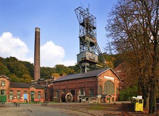 Landek heavy mine industry museum, tower mine, Ostrava