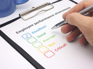 Employee performance assessment - excellent