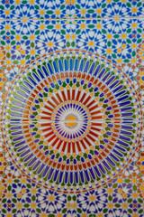 Mosaic wall showing the beauty of Islamic art
