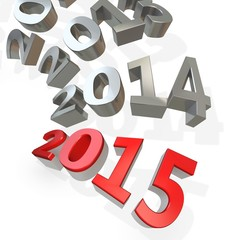 3d Happy New Year 2015