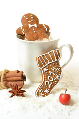 Christmas 2014 Homemade Gingerbread on a white background