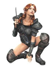 donna guerriero armata di pugnale