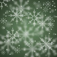 Декоративный, новогодний, зеленый фон