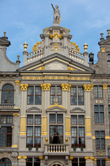 Ornate building of Grand Place in Brussels