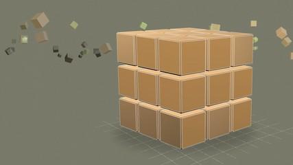 3D Rotate Cube for Titles (3D куб для титров)