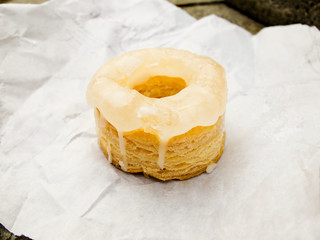 Cronut with white glassed.