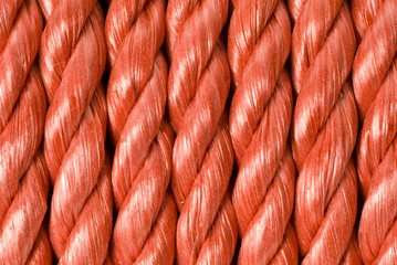 Coiled Red Rope Background