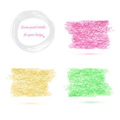 design elements pastel chalks